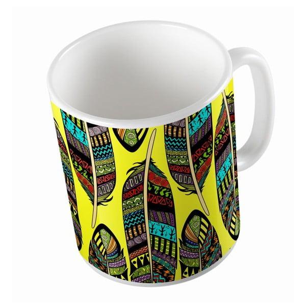 Ceramiczny kubek Yellow Indie, 330 ml