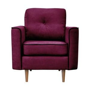 Fioletowy fotel z jasnymi nogami Mazzini Sofas Butterfly