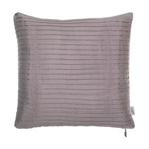 Plisowana   poszewka na poduszkę Apolena, różowo-szara