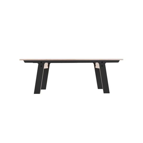 Czarna ławka rform Slim 01, dł. 133 cm