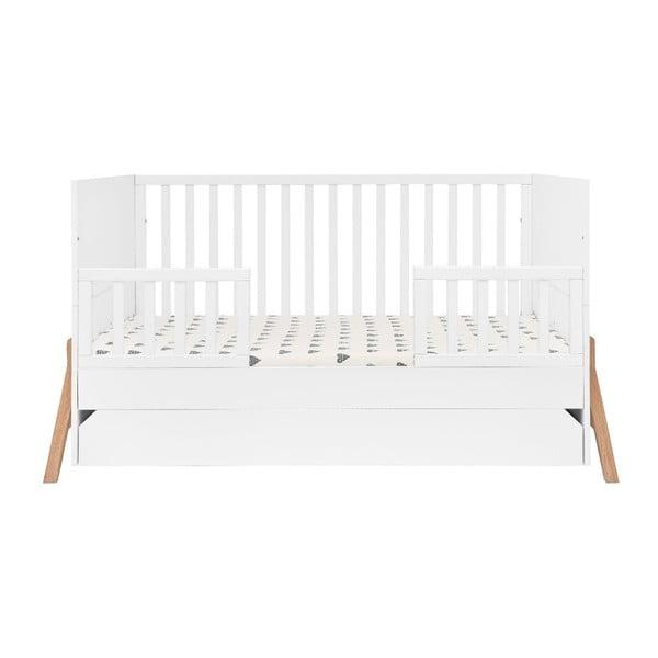 Białe łóżeczko dziecięce z szufladą BELLAMY Lotta, 70x140 cm