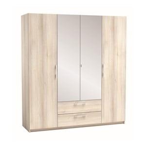 Szafa 4-drzwiowa z dekorem akacjowego drewna Saturne