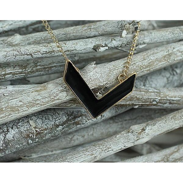 Naszyjnik Minimal Black Gold