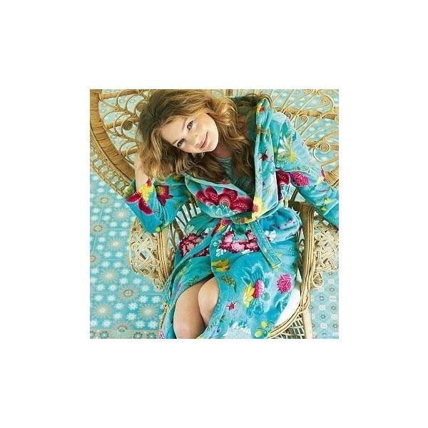 Niebieski szlafrok damski Pip Studio Floral Fantasy, rozm. M