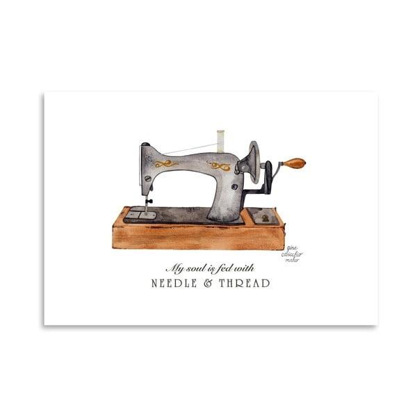 Autorski plakat Sewing Machine, 30x42 m