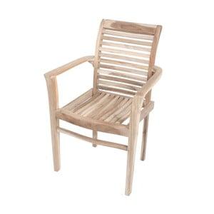 Ogrodowe krzesło sztaplowane z drewna tekowego ADDU Java