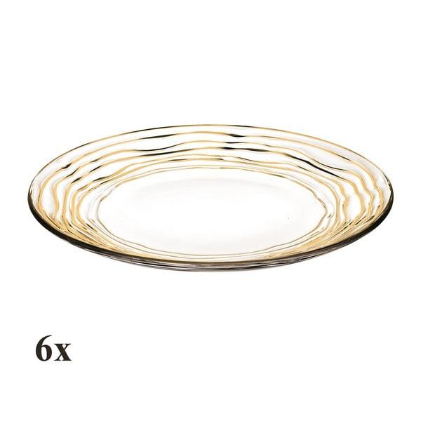 Zestaw 6 talerzy Oasi Gold, 28 cm