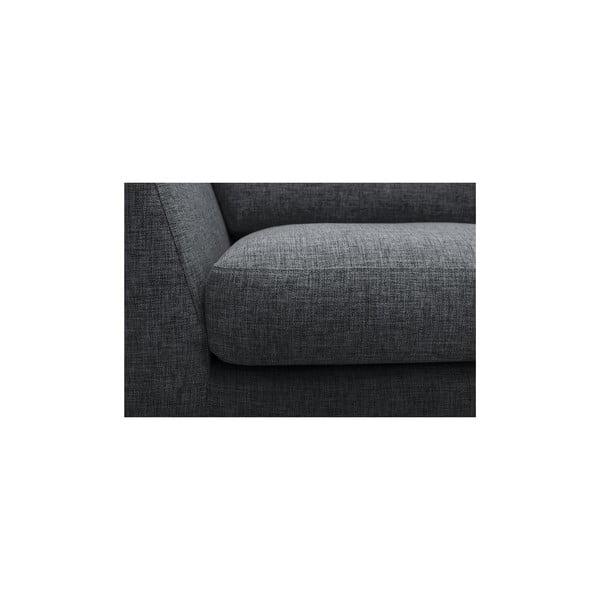 Antracytowa sofa trzyosobowa Vivonita Monroe