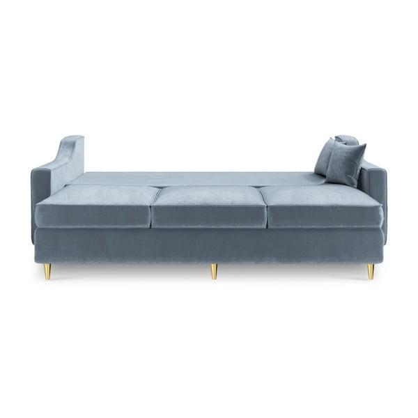 Jasnoniebieska 3-osobowa sofa rozkładana Mazzini Sofas Marigold