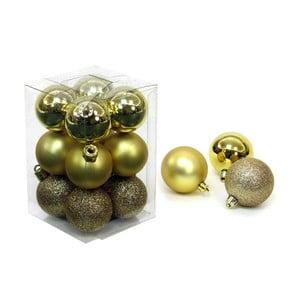 Zestaw 12 bombek w kolorze złota Unimasa Navidad