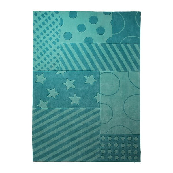 Dywan Esprit Stars Stripes Turquoise, 70x140 cm