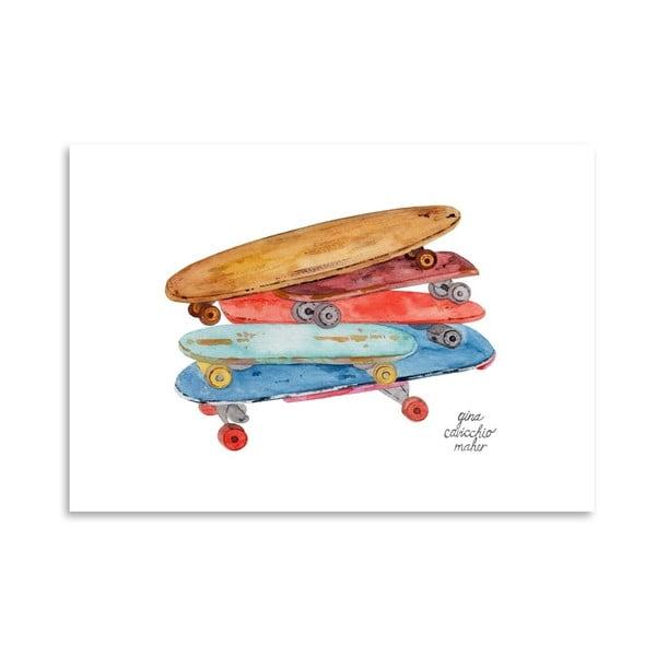 Autorski plakat Skate Boards, 30x42 m
