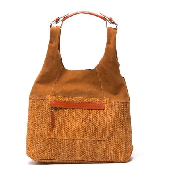 Skórzana torebka Tote 875 Cognac