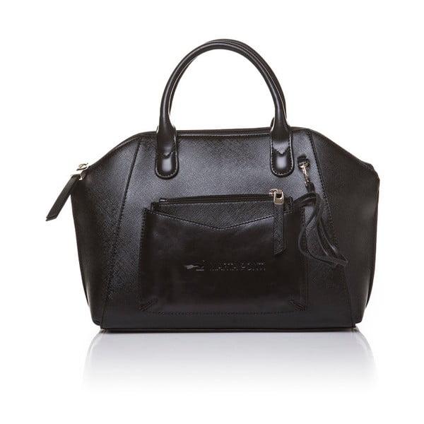 Skórzana torebka do ręki Marta Ponti Aipee, czarna