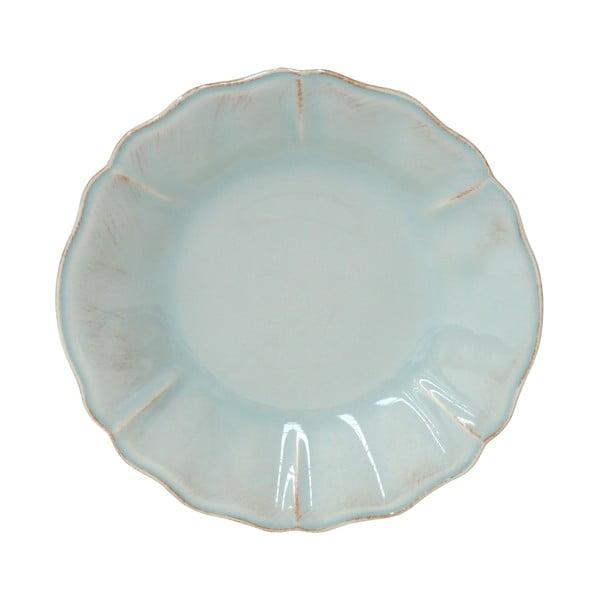 Ceramiczny talerz na zupę Tejo 24 cm, turkusowy