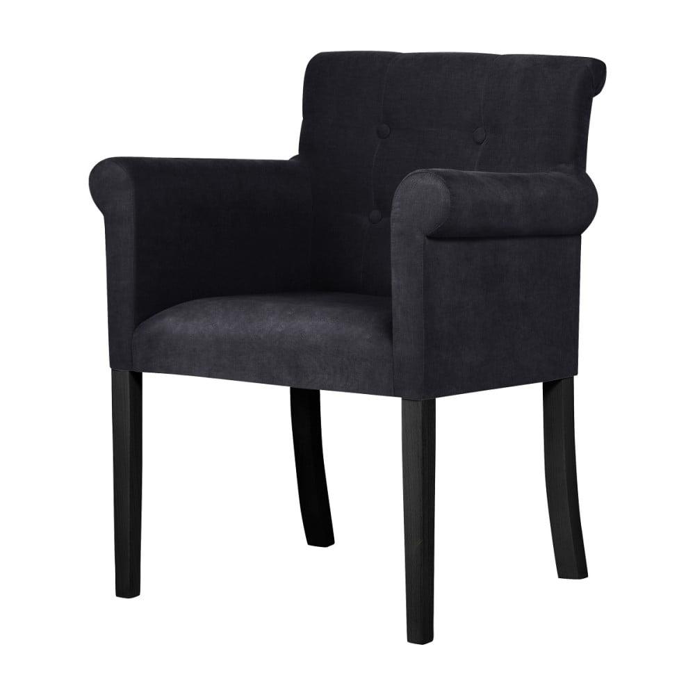 Czarne krzesło z czarnymi nogami z drewna bukowego Ted Lapidus Maison Flacon