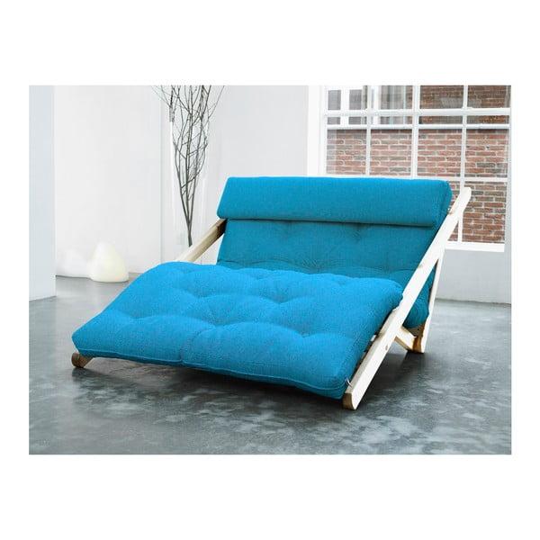 Szezlong Karup Figo, Raw/Horizon Blue, 120 cm