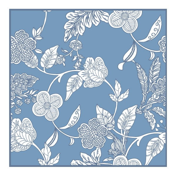 Zestaw 2 mat stołowych Blue Flowers, 20x20 cm