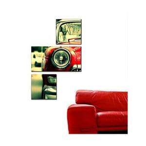 Trzyczęściowy obraz Asymetric Car, 60x90 cm