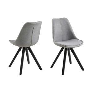 Zestaw 2 szarych krzeseł Actona Dama