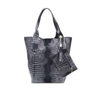 Skórzana torebka Marissa, czarna
