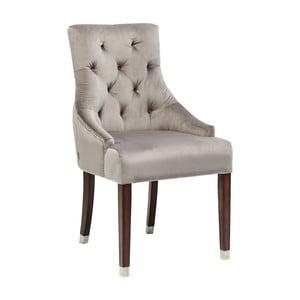 Szare krzesło z podłokietnikami Kare Design Prince Velvet