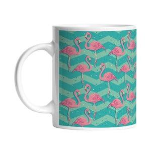 Ceramiczny kubek Flamingo Birds, 330 ml