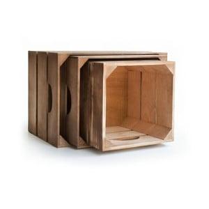Zestaw drewnianych skrzynek Really Nice Things 1975