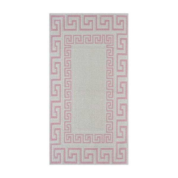 Wytrzymały dywan w kolorze pudrowym Vitaus Versace, 140x200 cm