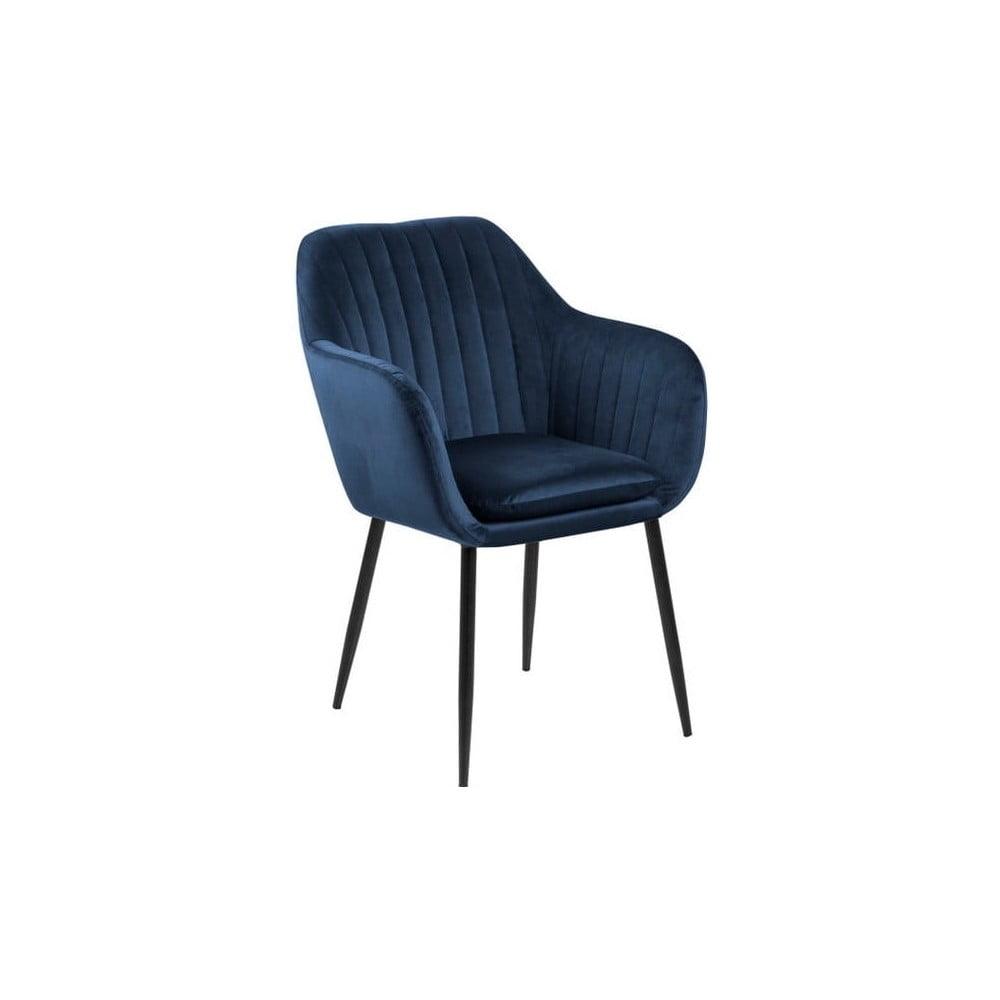 Ciemnoniebieski tapicerowany fotel Actona Emilia