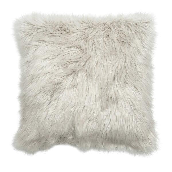 Szara poduszka J-Line Fur
