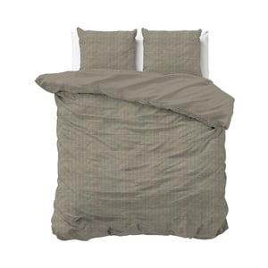 Brązowa bawełniana pościel dwuosobowa Sleeptime, 240x220 cm