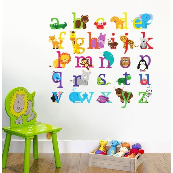 Naklejka dekoracyjna na ścianę ZOO alfabet