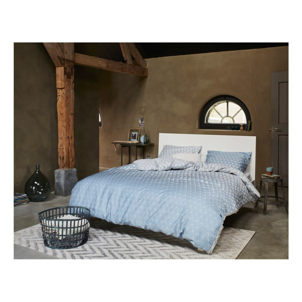 niebiesko bia a wzorzysta po ciel esprit mina 200x200 cm bonami. Black Bedroom Furniture Sets. Home Design Ideas