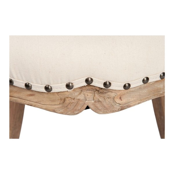 Fotel Low Ecru, 51x45x59 cm