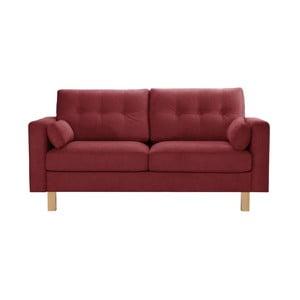 Bordowa sofa 3-osobowa Stella Cadente Maison Lagoa