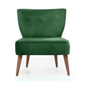 Zielony fotel tapicerowany Balcab Home Molly