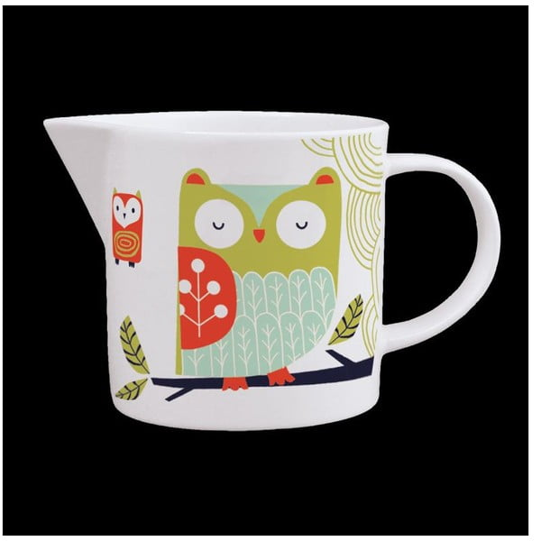 Dzbanek z angielskiej porcelany Folkland Barn Owl