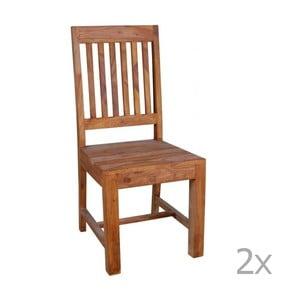 Zestaw 2 krzeseł z palisandru Massive Home Dina