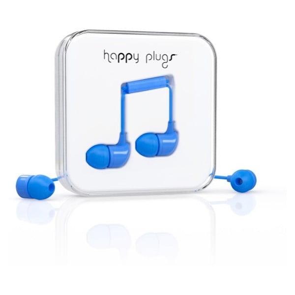 Słuchawki dokanałowe Happy Plugs, niebieskie