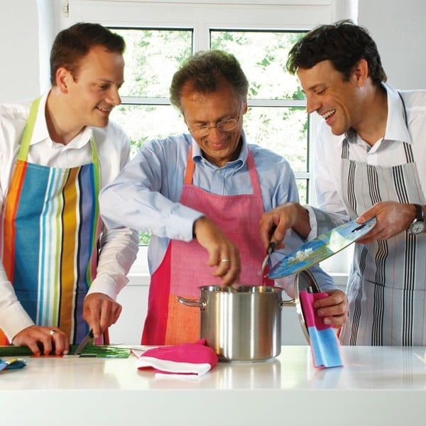 Fartuch kuchenny Grey Stripes