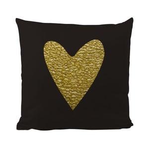 Poduszka Black Shake Precious Heart, 50x50 cm