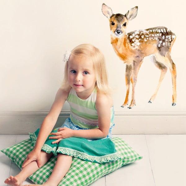 Naklejka wielokrotnego użytku Baby Deer, 56x40 cm