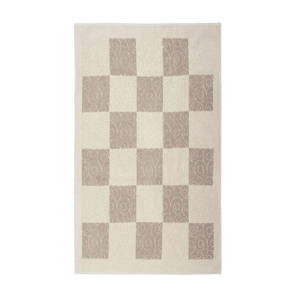 Kremowy dywan bawełniany Floorist Check, 160x230cm