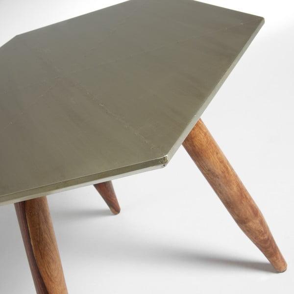 Stolik z blatem w kolorze srebra La Forma Bima