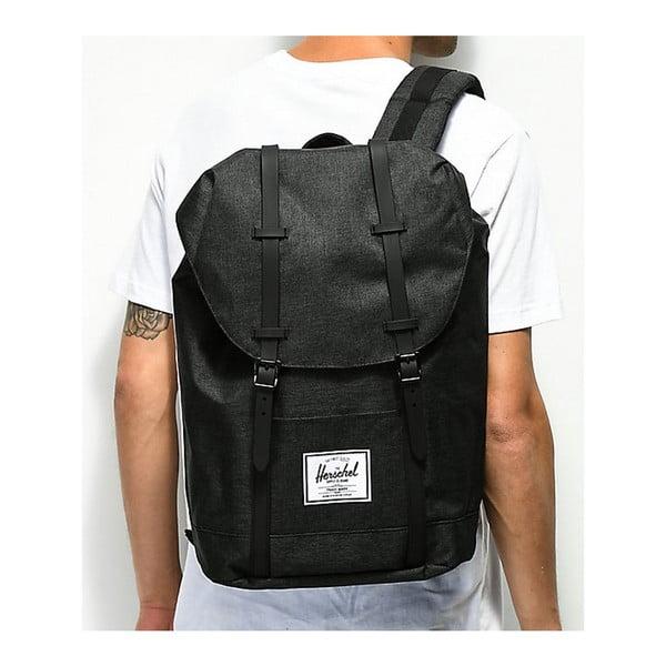 Czarny plecak z czarnymi paskami Herschel Retreat
