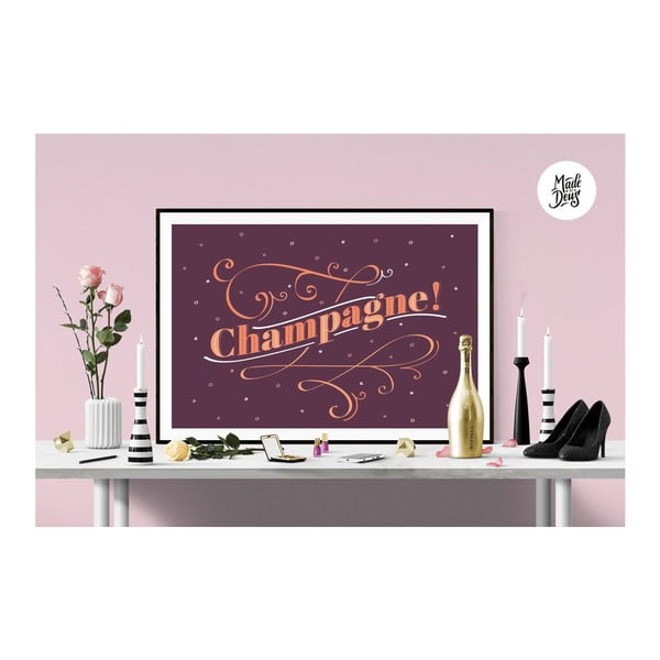 Plakat Champagne! Burgundy, A3