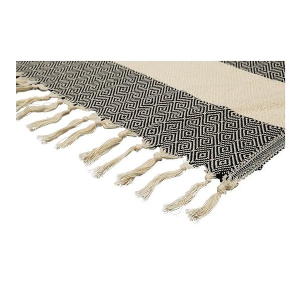 Ręcznik hammam Diamonds Black, 100x180 cm