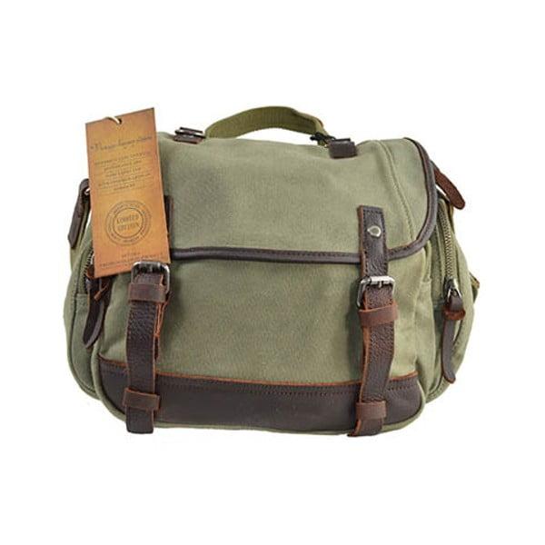 Zielona torba skórzana Adventurer