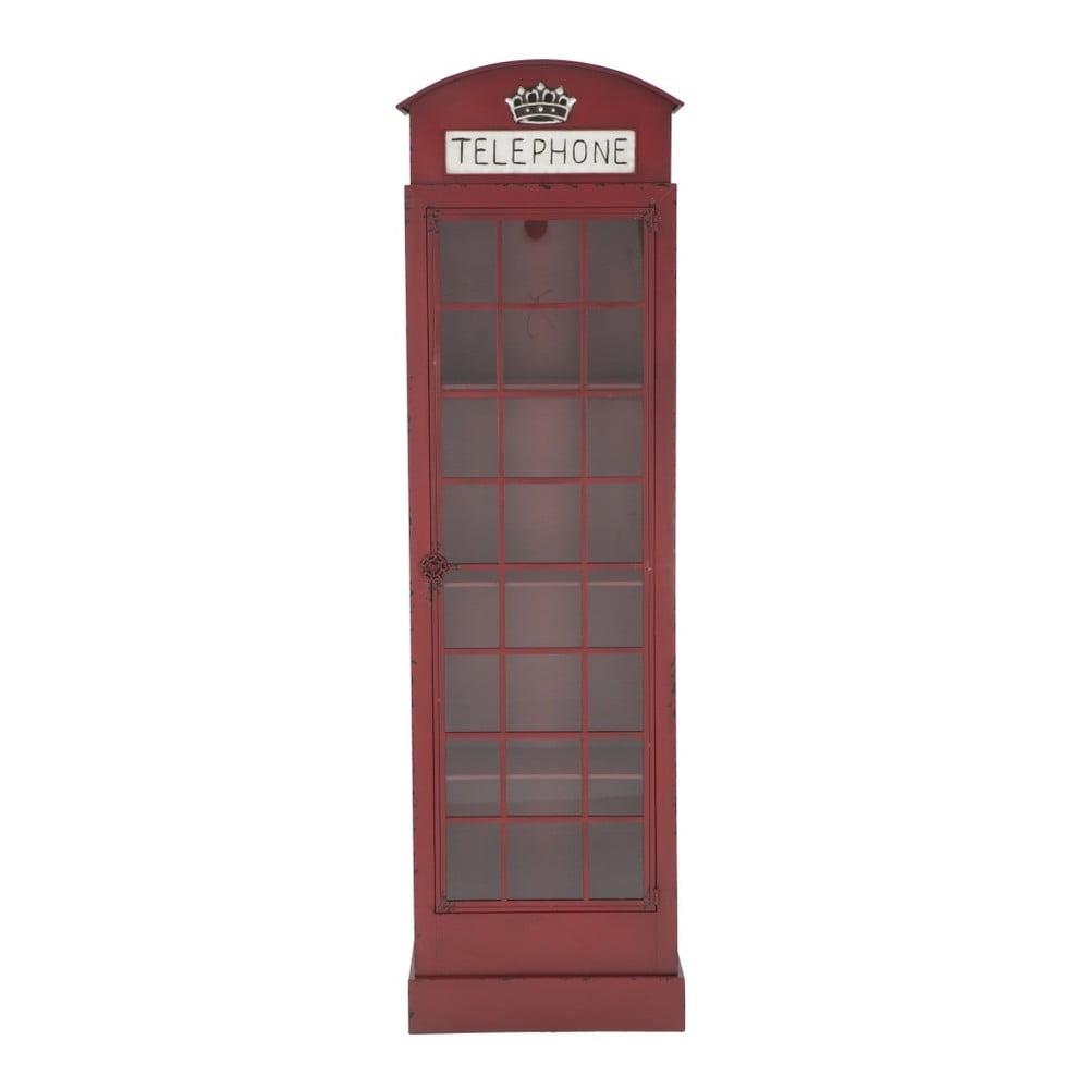 Czerwona żelazna witryna Mauro Ferretti London Telephone Booth